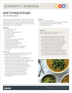 Kitchari recipe how to make kitchari banyan botanicals ayurveda kitchari guide forumfinder Images