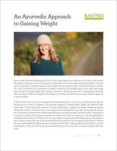 An Ayurvedic Approach to Gaining Weight PDF