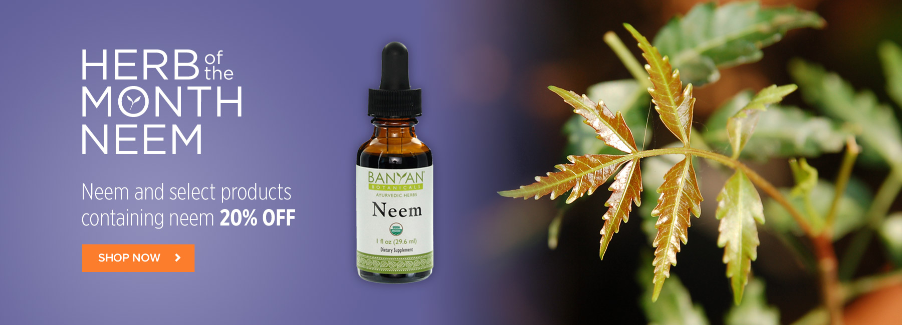Herb of the Month Neem - Save 20% OFF Neem and select products containing Neem