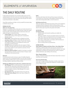 Vata-Pitta and Pitta-Vata Pacifying Daily Routine | Banyan