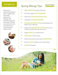 Ayurvedic Guide to Seasonal Allergies   Banyan Botanicals
