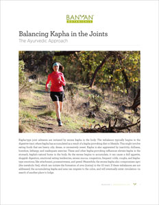 The Balancing Kapha in the Joints PDF