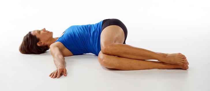 Ayurveda kapha pacifying yoga supine twist banyan for Floor yoga poses