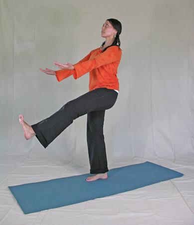 kapha yoga poses standing extended leg pose  banyan
