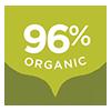 96% Organic