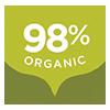 98% Organic