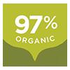 97% Organic
