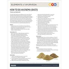 Elements of Ayurveda—How to Do an Enema (Basti)