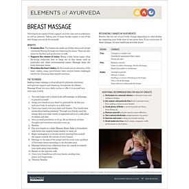 Elements of Ayurveda—Breast Massage