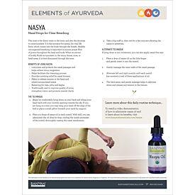 Elements of Ayurveda—Nasya