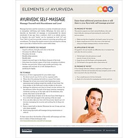 Elements of Ayurveda—Self-Massage