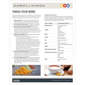 Elements of Ayurveda—Taking Your Herbs