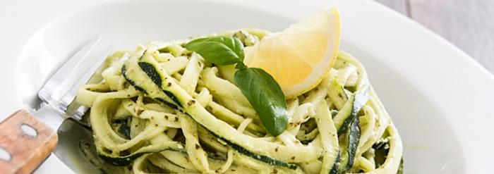 Pitta-Pacifying Recipe: Raw Zucchini & Mint Walnut Pesto