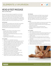 Elements of Ayurveda Head & Foot Massage Guide